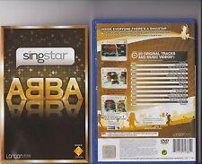 SINGSTAR ABBA PLAYSTATION 2 PS2 RARE PS 2 KARAOKE