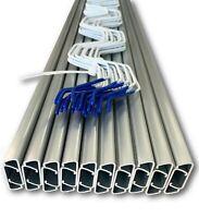 SHANS Wiggle Wire & Lock Channel - Greenhouse Spring Lock & C-Channel Bundle
