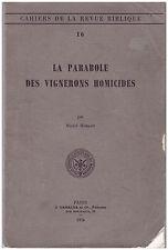 HUBAUT Michel - LA PARABOLE DES VIGNERONS HOMICIDES - 1976