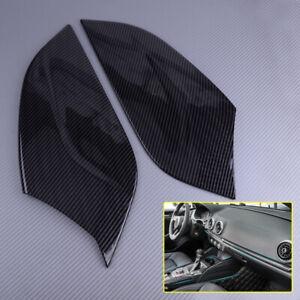 Fit For Audi A3 8V 2014-2018 Carbon Fiber Center Console Side Panel Cover Trim