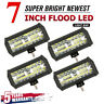 """4x 7"""" INCH 400W CREE Combo LED Work Light Bar Flood Driving OffRoad Tractor SUV"""