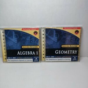 Success Builder PC The Learning Company Lot Of 2 Algebra 1 And Geometry