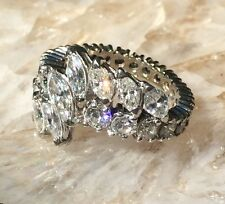Art Deco Marquise Diamond 4cttw Eternity Band in 14K White Gold #1399
