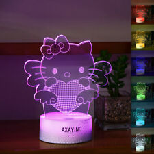 Hello Kitty 3D LED Night Light Touch Switch Table Desk Lamp Toy Gift NEW
