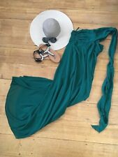 EVER PRETTY Maxi Dress Cocktail Party Emerald Jade Green 10 M Long Strapless