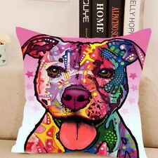 Staffy Staffordshire Bull Terrier love Hund art printed pillow case showy Pit bu