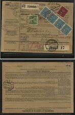 Sweden  parcel  card   1929         KL0711