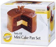 Wilton Four-Piece Mini Tasty Fill Tin Set Non Stick Pan Bakeware Cake Baking Tin