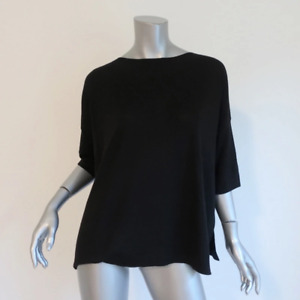 Balenciaga Knits Sweater Black Wool-Cashmere Size 42 Half Sleeve Pullover Top