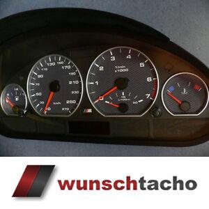 Tachoscheibe für Tacho BMW E46 *Alp-Carbon*270 Kmh Diesel...