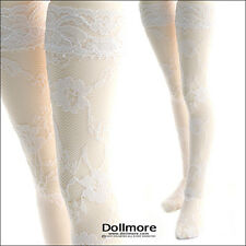 Dollmore MSD - Lace Band Stocking (White)