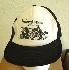MEDIEVAL TIMES trucker cap tournament Kissimmee logo hat Florida knights 1980s