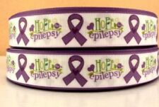 "Epilepsy 7/8 grosgrain 7/8"" ribbon 3 yds hair bows  **CHELLE**"