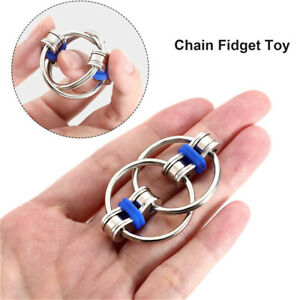 Fidget Bike Chain Key Ring Stress Reducer Metal Keychain Decompression Toy