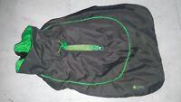 """Great &small active dog coat green&dgrey collar &lead zip 14"""" 36cm"""
