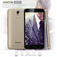 "HOMTOM HT17 4G LTE Smartphone Android 6.0 MTK6737 5.5"" Touch ID 13MP Handy YE"