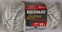 Bernat Softee Chunky Yarn Grey Ragg Gray Super Bulky Crochet knitting Knit Twist