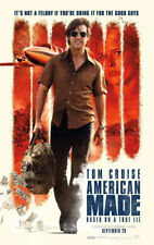 AMERICAN MADE MOVIE POSTER 2 Sided ORIGINAL VF 27x40 TOM CRUISE JAYMA MAYS