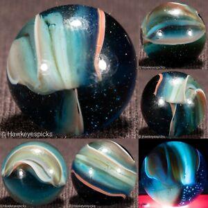 Marble King PAINTED TURTLE Late Period Vintage Marble 5/8 mint hawkeyespicks sg