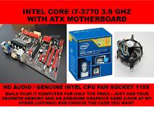 L@@K BIOSTAR TH61A GAMING MOTHERBOARD + i7-3770 LGA 1155 + CPU FAN