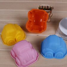 New Cute Car Shape Silicone Soap Ice Chocolate Candy Muffin Cupcake Baking Mould