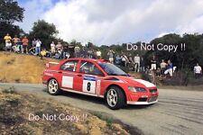 Freddy Loix Mitsubishi Lancer Evo WRC Tour De Corse Rally 2001 Photograph 6