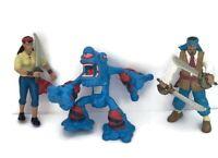 Vintage ELC Pirates & Zombie Cyclops Action Figures 3 Toys Joblot Bundle 7-9.5cm