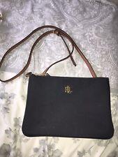 Genuine Ralph Lauren Black Tan Over Shoulder Hand Bag RLL