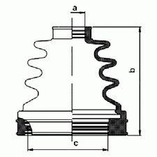 Mini Cooper R50 R53 R52 2001-2007 Oem Inner Cv Constant Velocity Boot Kit