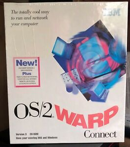 IBM OS/2 WARP CONNECT VERSION 3 & BONUSPAK CD-ROM -NEW IN RETAIL SHRINKWRAP BOX