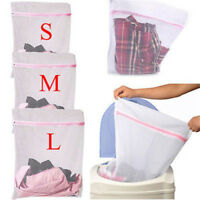 3X Laundry Washing Mesh Net Zipped Wash Bag Lingerie Underwear Bra Clothes Sock.