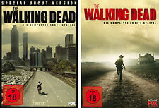 6 DVDs * THE WALKING DEAD - SEASON / STAFFEL 1 + 2 IM SET # NEU OVP WVG