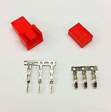 Maschio & Femmina 3 Pin PC FAN LED connettori di alimentazione - 1 di ogni-Rosso Inc PIN