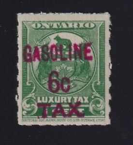Canada VD #OGT12 (1928) 6c Red on 1c Green GASOLINE TAX Revenue Mint VF