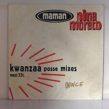 "Nina Morato – Maman (Kwanzaa Posse Mixes) (Vinyl, 12"", Maxi 33 Tours, Promo)"