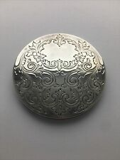 Kirk Stieff - Silverplate - Filigree Pocket Hand Mirror - No Monogram
