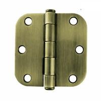"""HN0010g-AB  3"""" Round Corner Hinge Antique Brass Full Mortise"""