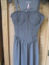 HALFE PRICE Lipsy Corset Body Dress Grey Size 10 BNWT Prom Party Evening Wedding