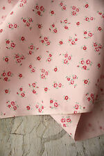 Vintage pink brushed cotton fabric material Marignan c1940's brushed cotton