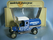 MATCHBOX MODELS OF YESTERYEAR Y-3 1912 FORD MODEL T EXPRESS DAIRY