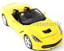 Maisto 2014 Chevrolet Corvette C7 Stingray Convertible 1:24 Diecast 34501 Yellow