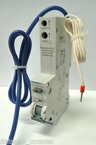 Siemens - RCBO Electronic Type AC, 30mA, 6kA, 1+N-Pole, C, 25A