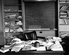 ALBERT EINSTEIN'S OFFICE ON DAY OF HIS DEATH IN APRIL 1955 - 8X10 PHOTO (DD352)