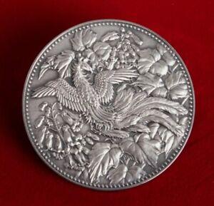 Superb Rare Scarce Genuine Vintage 1982 Japan New 500 Yen Large SilverCoin w COA