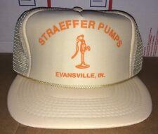 STRAEFFER Pumps & Supply Inc. Evansville IN Indiana Mesh trucker VTG Hat water !