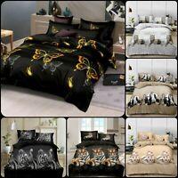 4PCs Luxury Jacquard Novena Duvet//Quilt Cover Set With Pillowcase Cushion Cover