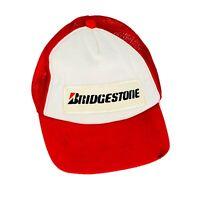 Vintage Bridgestone Mesh Trucker Hat Snapback Hat Baseball Cap