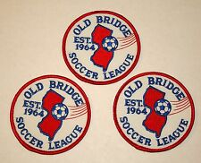3 Soccer Team Club Old Bridge New Jersey League Patch New NOS 1990s