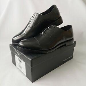 Samuel Windsor Handmade Mens Black Leather Oxford Lace Up Shoes UK Size 8.5