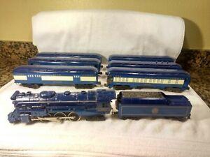 Lionel  #8801 Blue Comet Locomotive, Tender & Six Cars